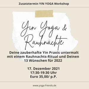 Rauhnächte Ritual und Yin Yoga